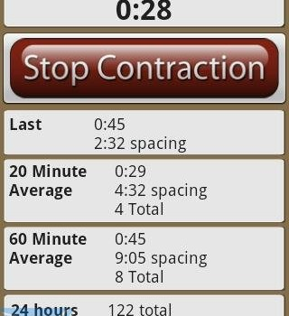 Contraction Timer Lite Ekran Görüntüleri - 2