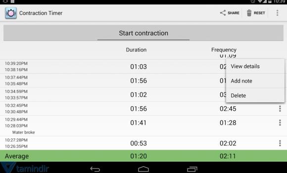 Contraction Timer Ekran Görüntüleri - 3