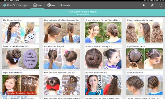 Cute Girls Hairstyles Ekran Görüntüleri - 5
