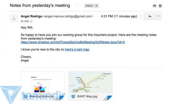 Dropbox for Gmail Ekran Görüntüleri - 1