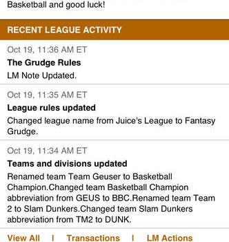 ESPN Fantasy Basketball Ekran Görüntüleri - 1