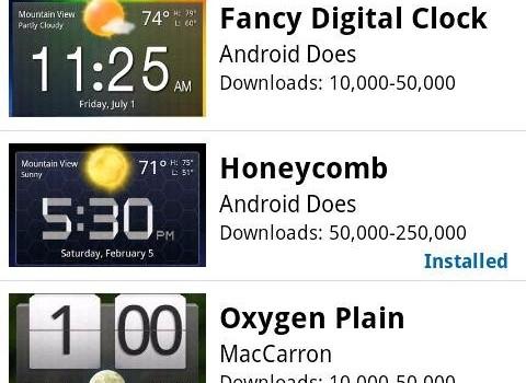 Fancy Widgets Ekran Görüntüleri - 1