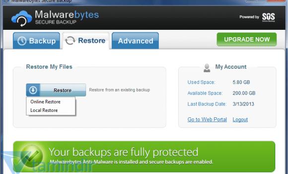 Malwarebytes Secure Backup Ekran Görüntüleri - 2