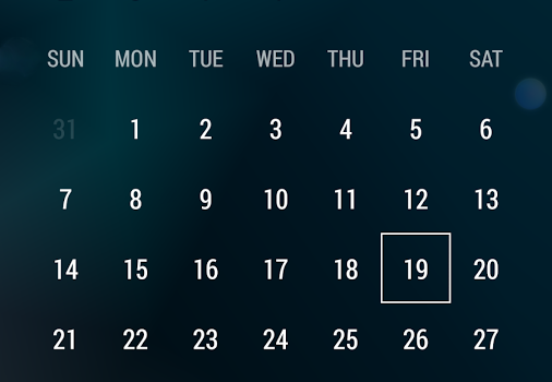 Month: Calendar Widget Ekran Görüntüleri - 5