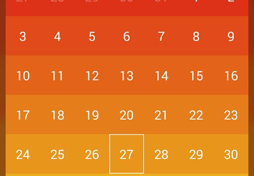 Month: Calendar Widget Ekran Görüntüleri - 4