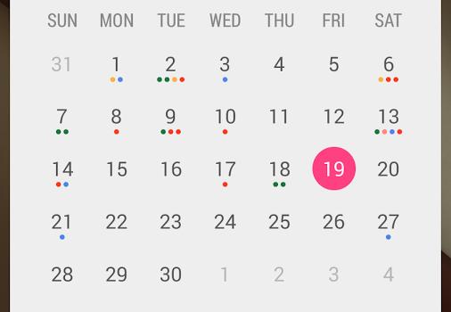 Month: Calendar Widget Ekran Görüntüleri - 3