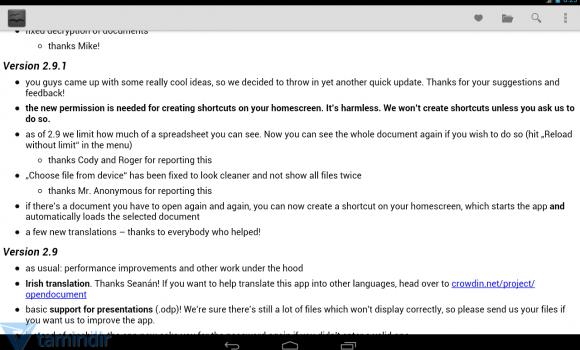 OpenDocument Reader Ekran Görüntüleri - 3