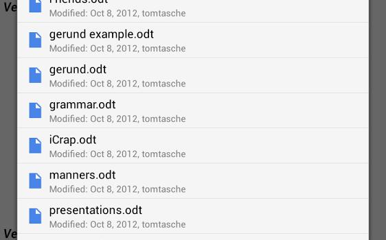 OpenDocument Reader Ekran Görüntüleri - 1