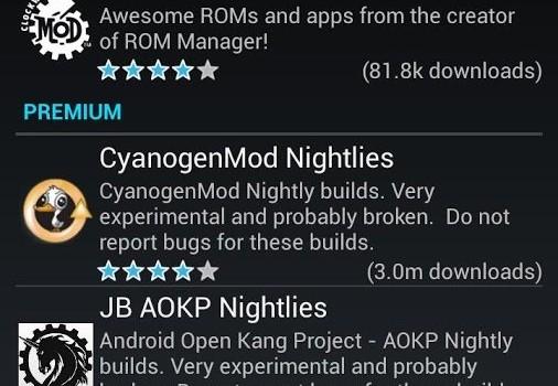 ROM Manager Ekran Görüntüleri - 2