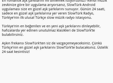 SlowTürk Radyo Ekran Görüntüleri - 2