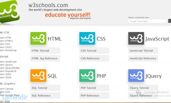 W3Schools Ekran Görüntüleri - 4