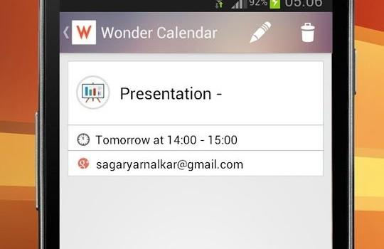 Wonder Calendar Ekran Görüntüleri - 1