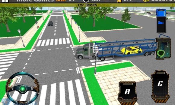 3D Car Transport Trailer Truck Ekran Görüntüleri - 2