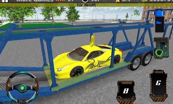 3D Car Transport Trailer Truck Ekran Görüntüleri - 1