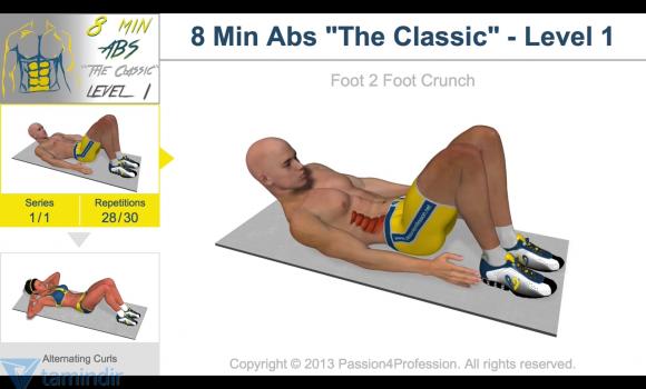 8 Minutes Abs Workout Ekran Görüntüleri - 1
