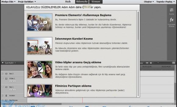 Adobe Premiere Elements Ekran Görüntüleri - 1