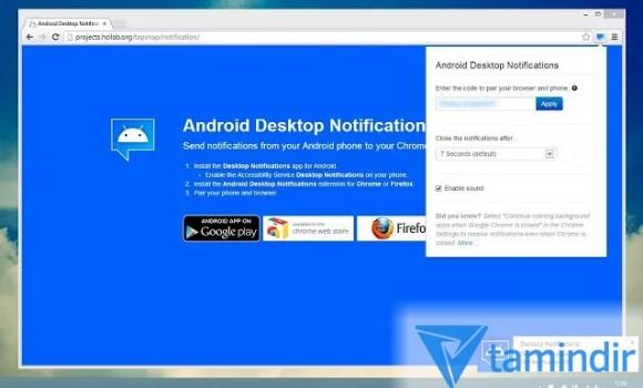 Android Desktop Notifications Ekran Görüntüleri - 2