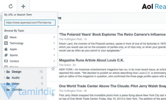 AOL Reader Ekran Görüntüleri - 1
