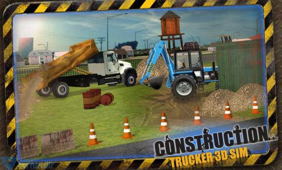 Construction Trucker 3D Sim Ekran Görüntüleri - 3