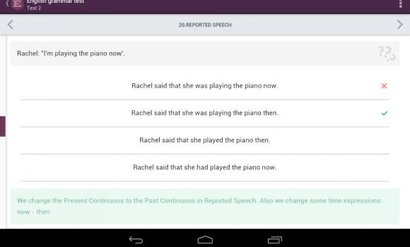 English Grammar Test Ekran Görüntüleri - 1