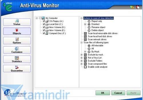 eScan Antivirus Ekran Görüntüleri - 1