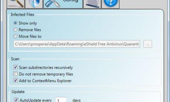 eShield Free Antivirus Ekran Görüntüleri - 1