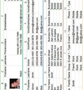 ExcelContacts Ekran Görüntüleri - 1