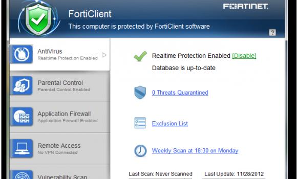 FortiClient Standard Ekran Görüntüleri - 1