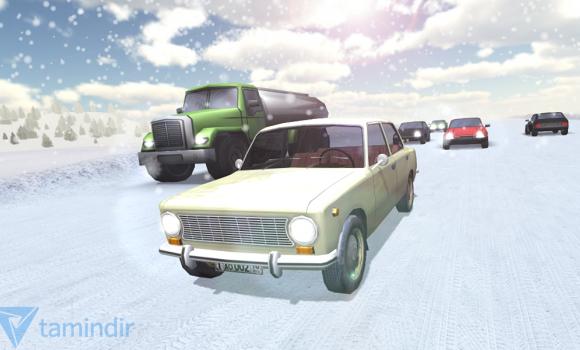 Russian Winter Traffic Racer Ekran Görüntüleri - 3
