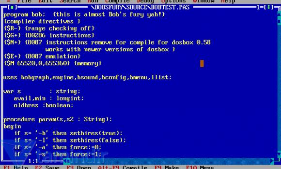 Turbo Pascal Ekran Görüntüleri - 1
