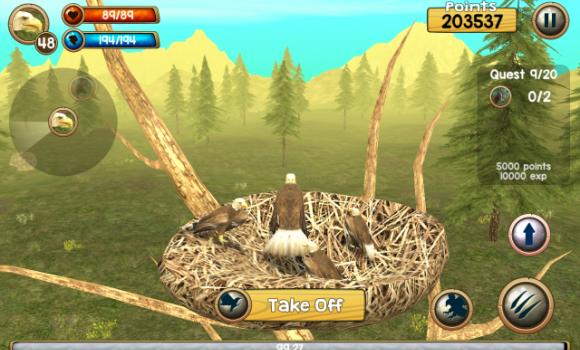 Wild Eagle Sim 3D Ekran Görüntüleri - 2