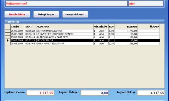 Müşteri Takip ve Veresiye Defteri Ekran Görüntüleri - 1