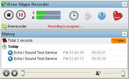 iFree Skype Recorder Ekran Görüntüleri - 1