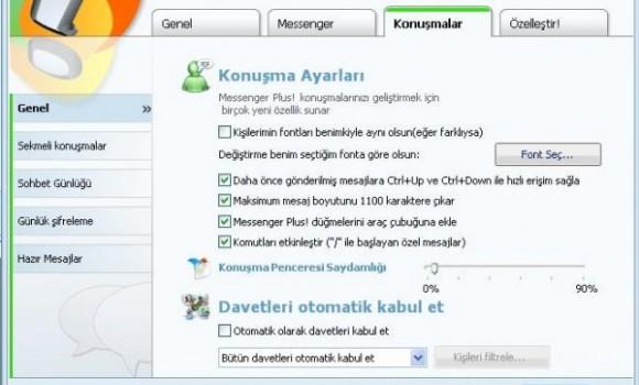 Messenger Plus! Live Türkçe yama Ekran Görüntüleri - 2