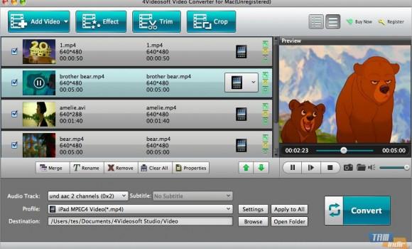 4Videosoft Video Converter for Mac Ekran Görüntüleri - 1