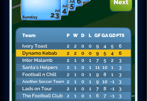 5 A Side Legends Football Manager Ekran Görüntüleri - 2