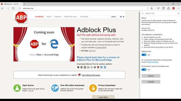 Adblock Plus for Microsoft Edge Ekran Görüntüleri - 1