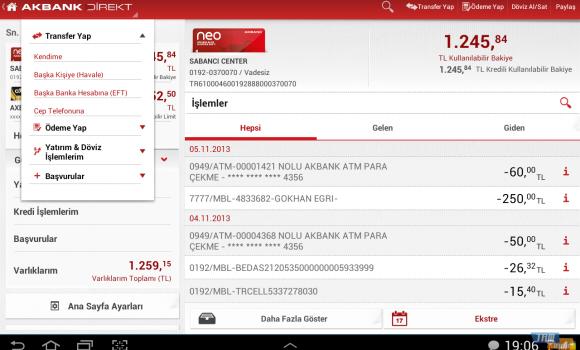 Akbank Direkt Tablet Ekran Görüntüleri - 2