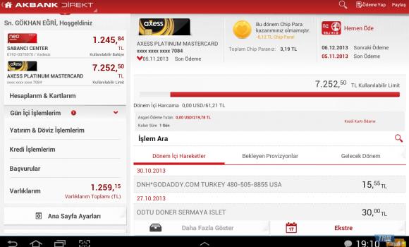 Akbank Direkt Tablet Ekran Görüntüleri - 1