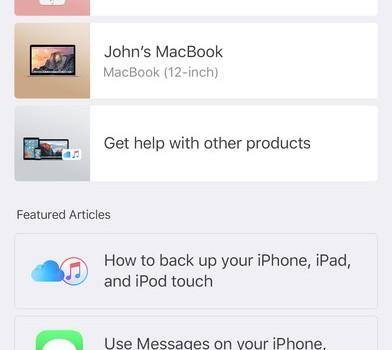 Apple Support Ekran Görüntüleri - 5