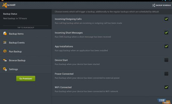 avast! Mobile Backup Ekran Görüntüleri - 1