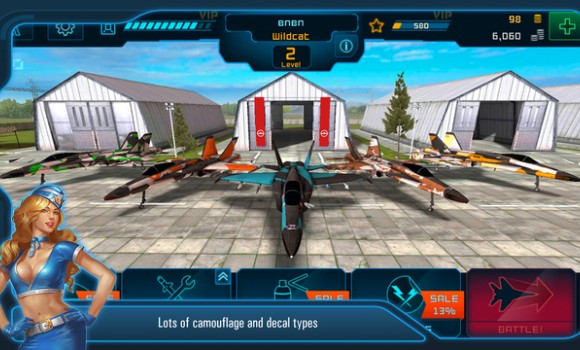 Battle of Warplanes Ekran Görüntüleri - 2