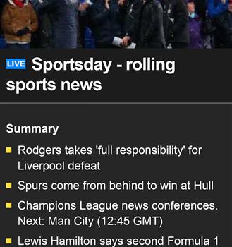 BBC Sport Ekran Görüntüleri - 2
