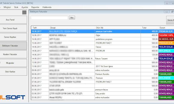 Bilsoft Online Teknik Servis Takip Programı Ekran Görüntüleri - 3