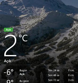 Bing Hava Durumu Ekran Görüntüleri - 1