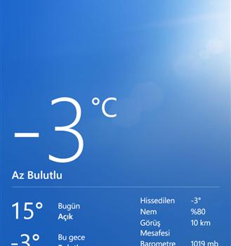 Bing Hava Durumu Ekran Görüntüleri - 3