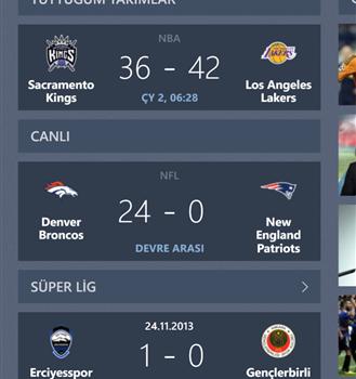 Bing Spor Ekran Görüntüleri - 3