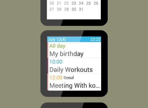 Calendar for Android Wear Ekran Görüntüleri - 3