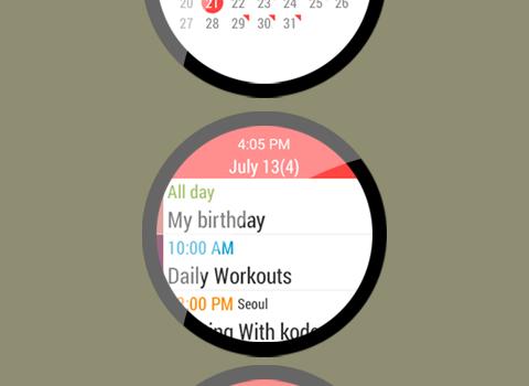 Calendar for Android Wear Ekran Görüntüleri - 2