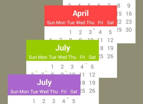 Calendar for Android Wear Ekran Görüntüleri - 1